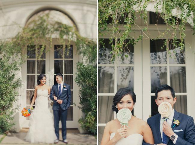 bride and groom lollipops