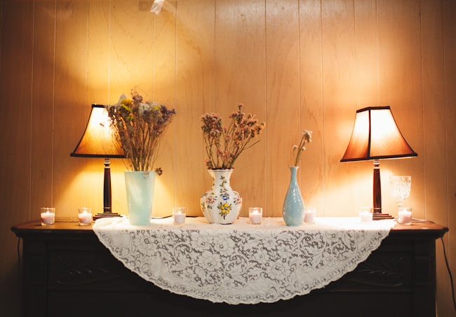lace tablecloth reception