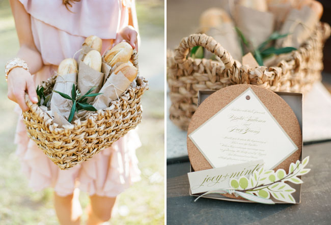 bread basket wedding favor