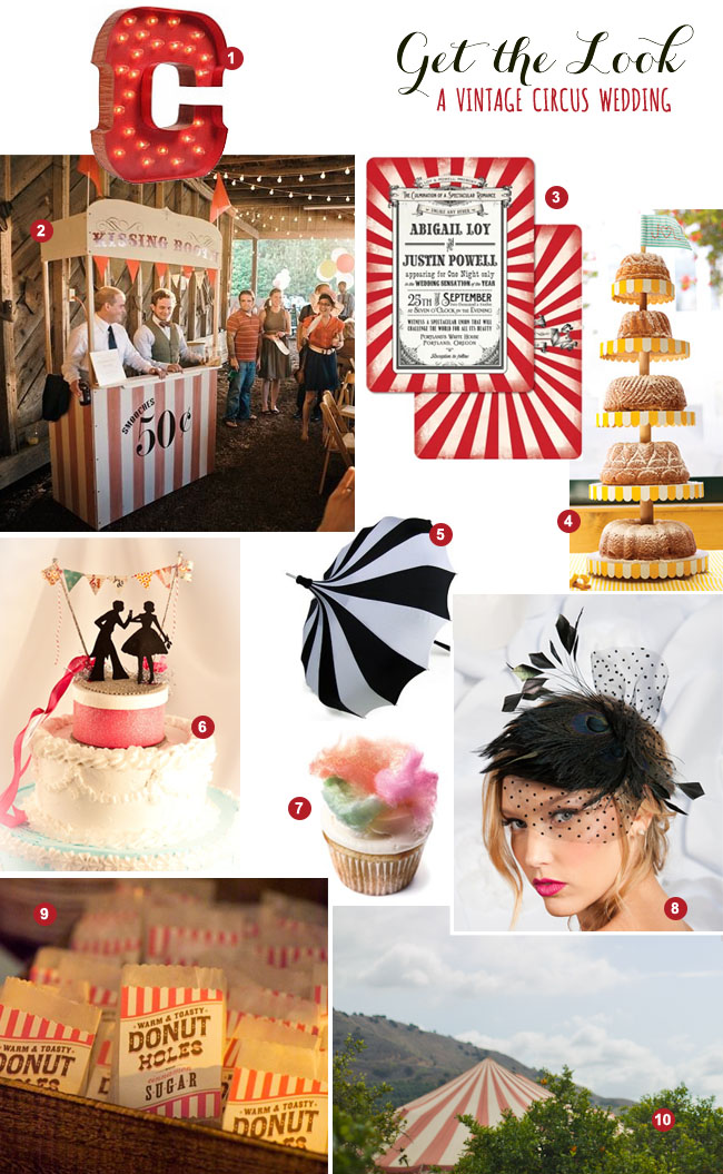 Get the Look: A Vintage Circus Wedding