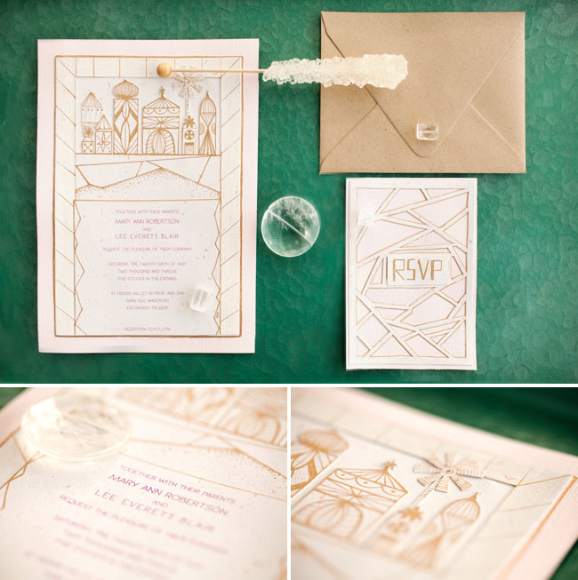 its a small world wedding laser cut wedding invites