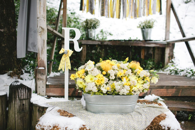 yellow floral bouquet bucket