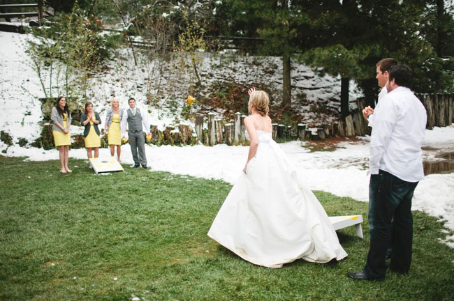 cornhole wedding games