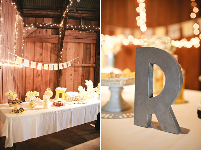 big letter table decor