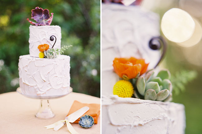 succulent wedding cake design