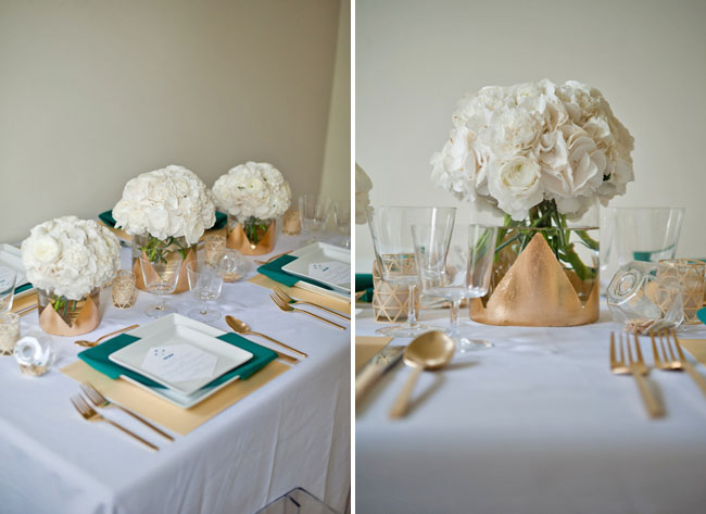 Gold teal modern table inspiration green wedding shoes