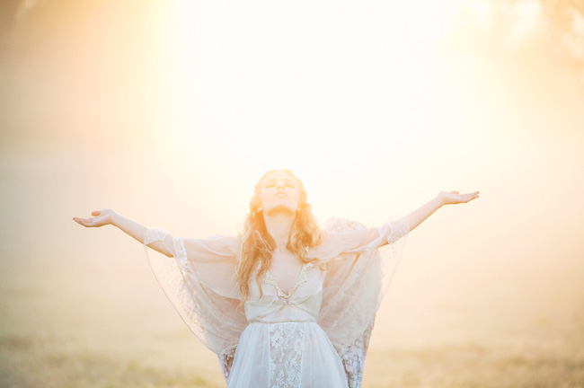 angelic bridal session