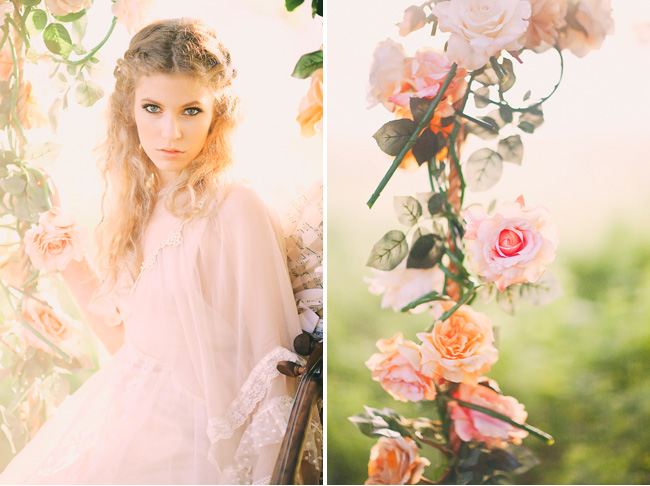bridal session with swing