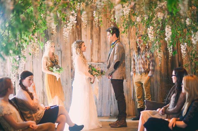 hanging trees wedding ceremony canopy