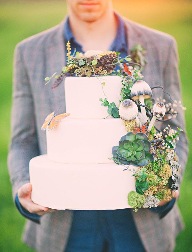 mushroom wedding cake cascade