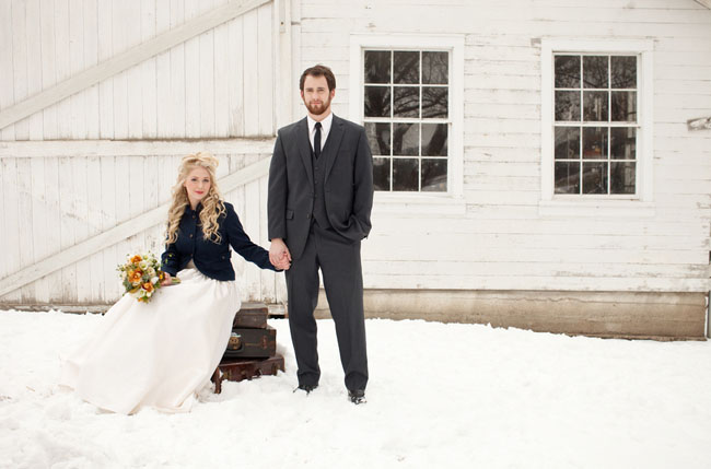 winter wedding inspiration in the snow