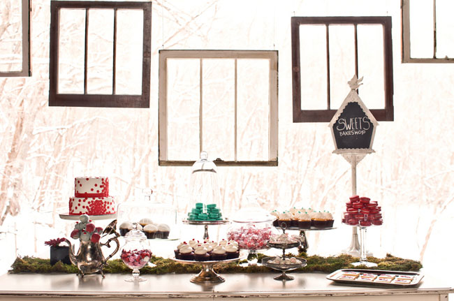 hanging frames dessert bar backdrop