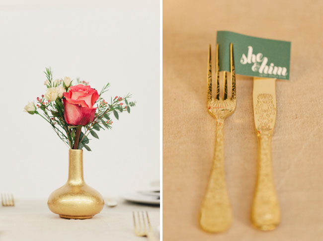 gold etched wedding silverware