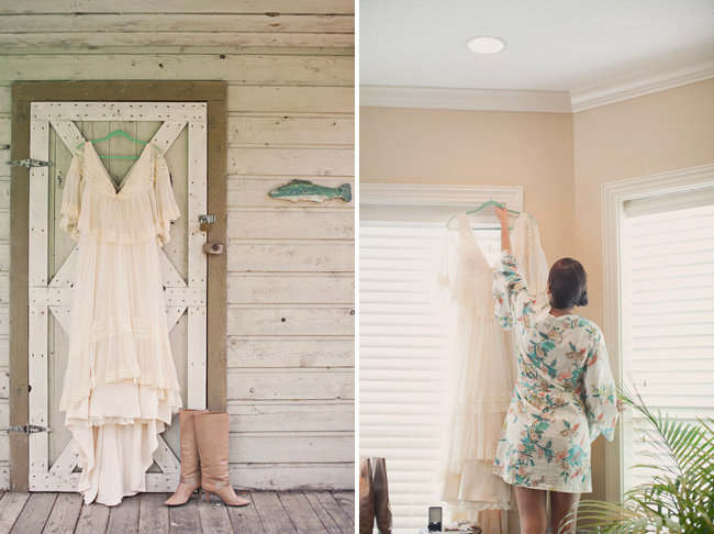 florida wedding dress with boots
