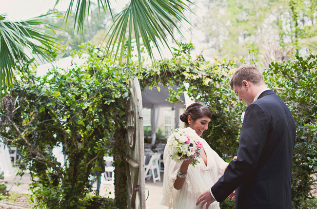 florida wedding first look
