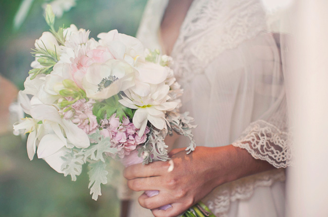 light colored bouquet