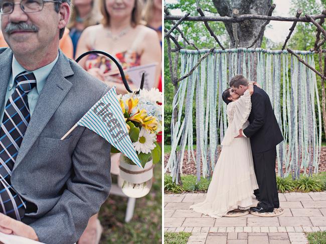 florida wedding ribbon backdrop