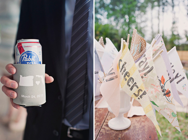 beer cozy wedding