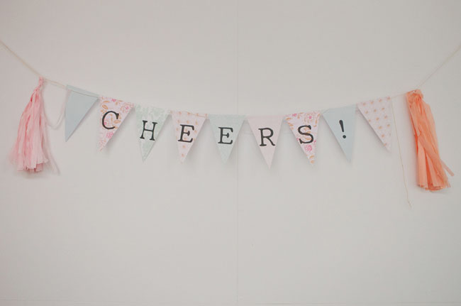 cheers wedding banner