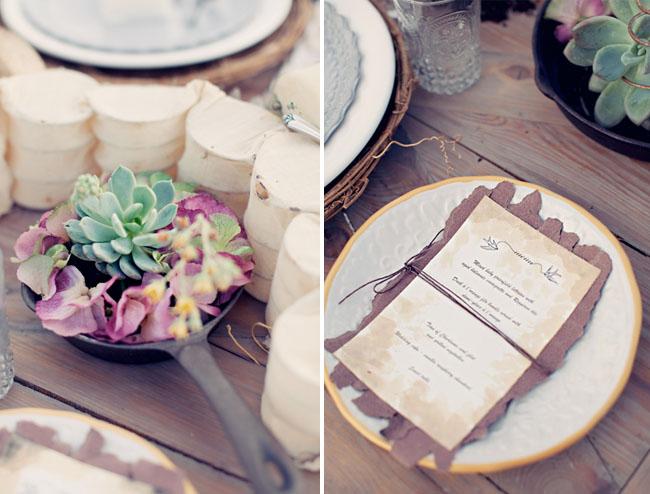 skillet succulent table design