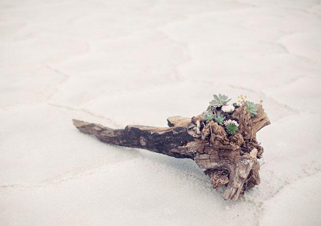 driftwood floral piece