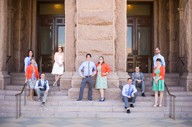 austin wedding bridal party
