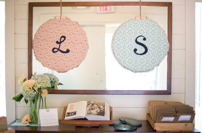 embroidery hoop initals