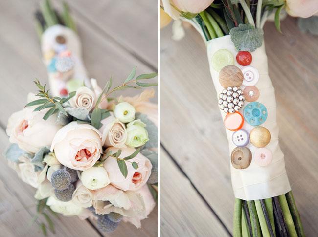 button bouquet wrap