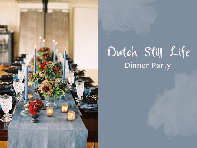 dutch still life dinner party