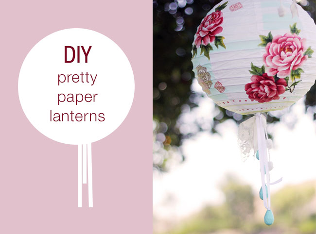 Diy paper lanterns green wedding shoes for How to make paper lanterns easy