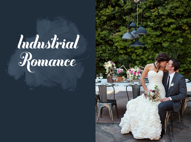 industrial romance wedding inspiration
