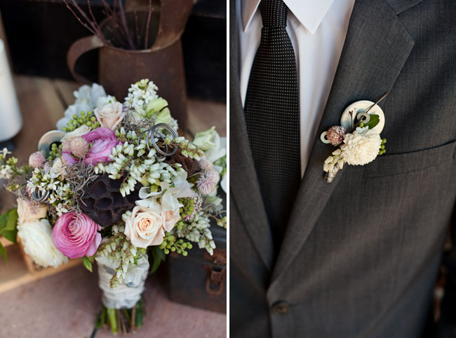 nuts and bolts boutonniere