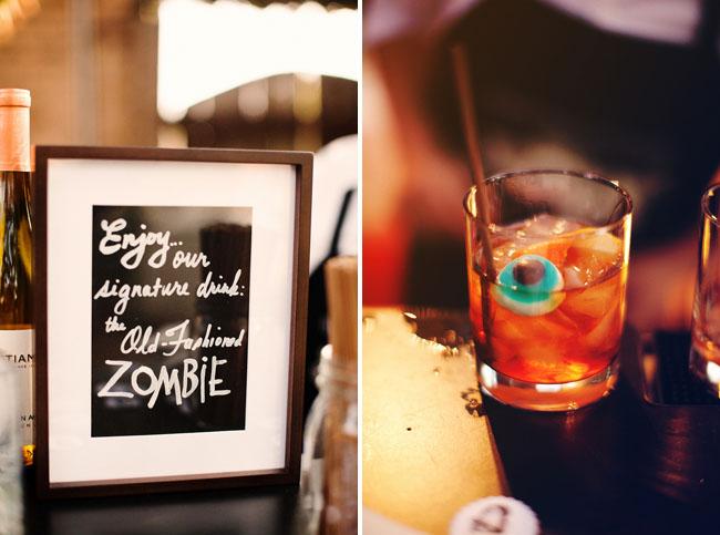 zombie eyeball wedding drink