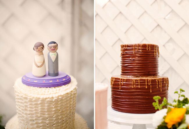 wooden cake topper