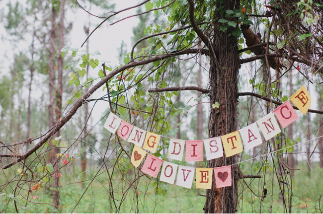 long distance love shoot bunting