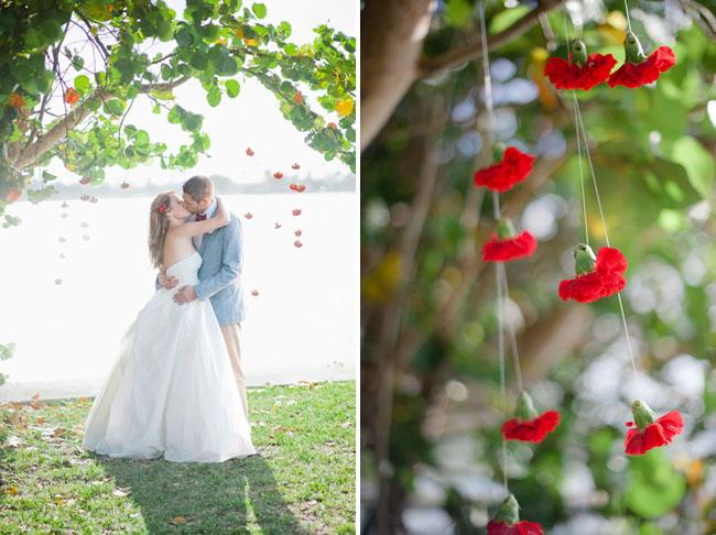 hanging carnation wedding