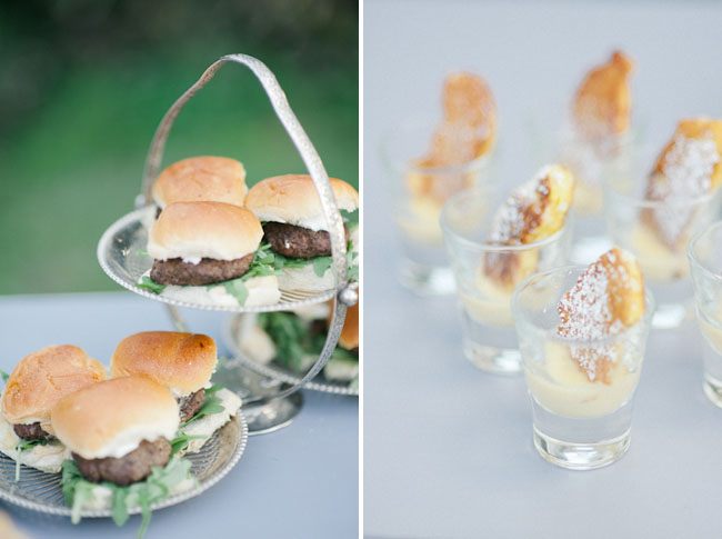 mini burger wedding foods