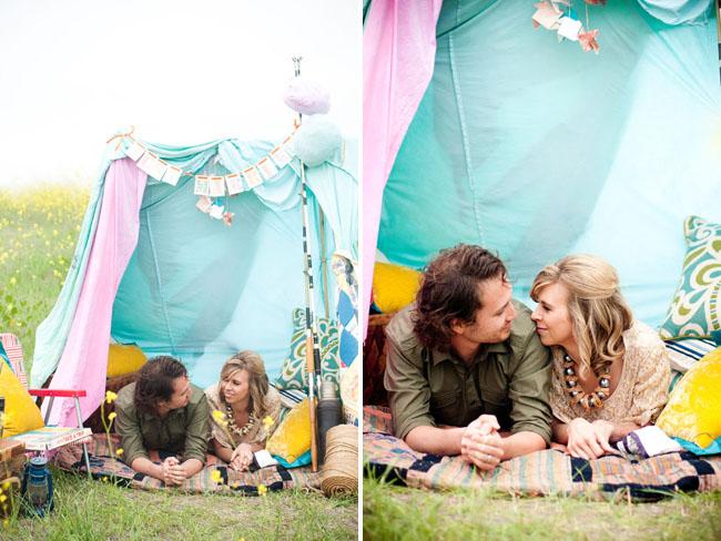 moonrise kingdom styled elopement tent