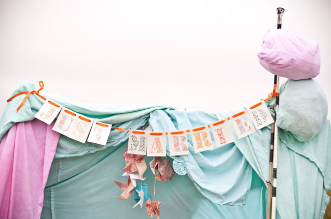 moonrise kingdom styled elopement bunting