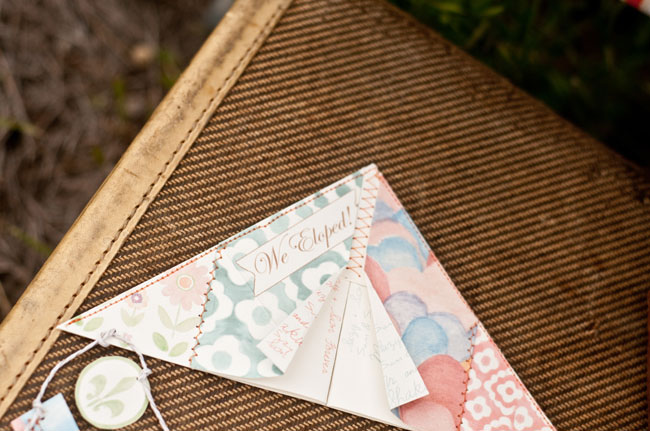 moonrise kingdom styled elopement kite invitation