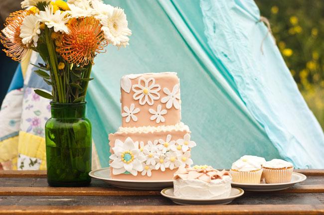 flower latice cake