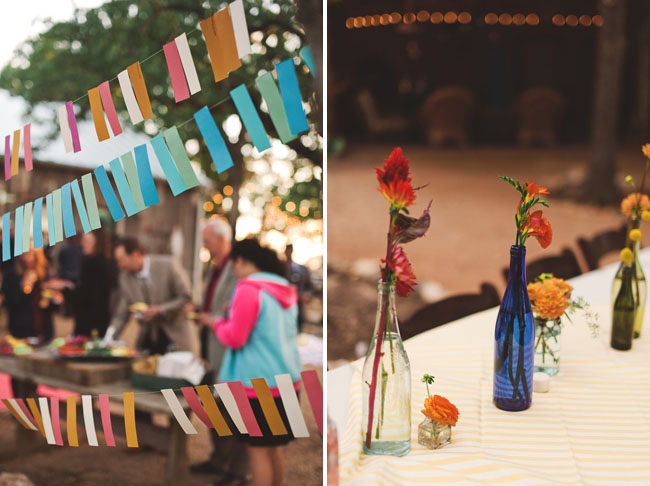 colorful tissue paper bunting