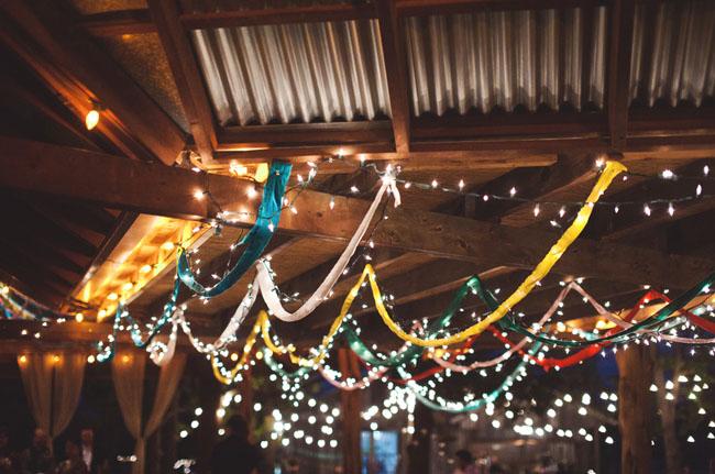 outdoor reception string lights