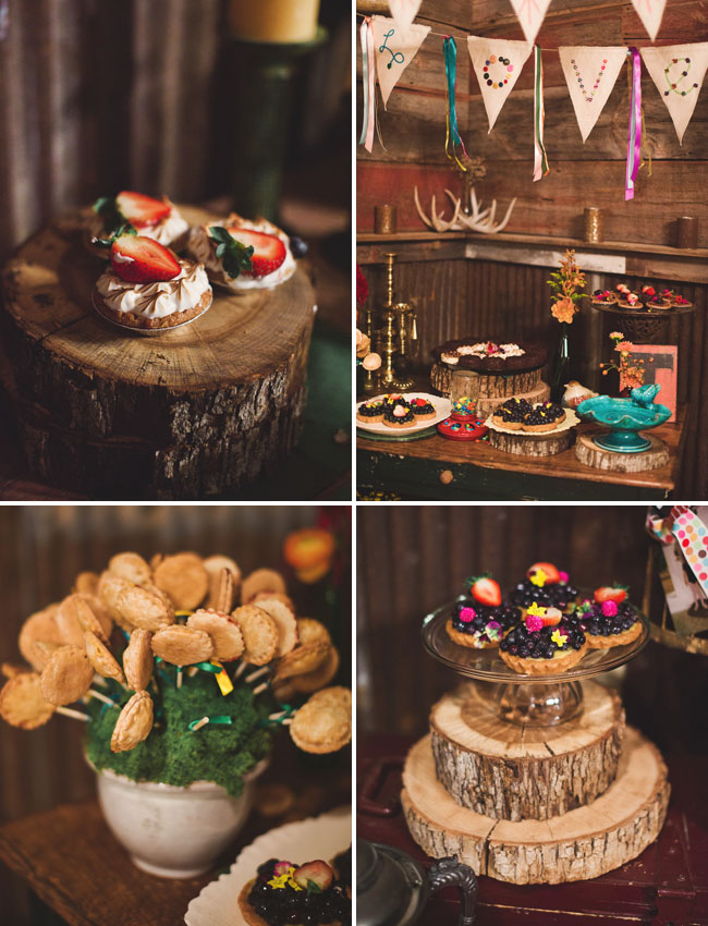 rustic dessert bar