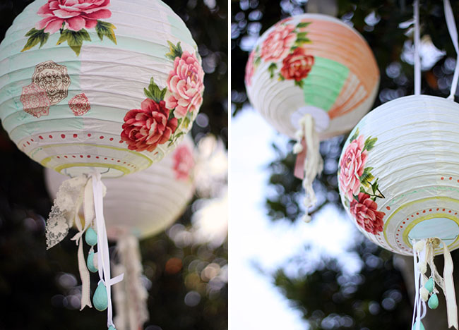painted lanterns DIY
