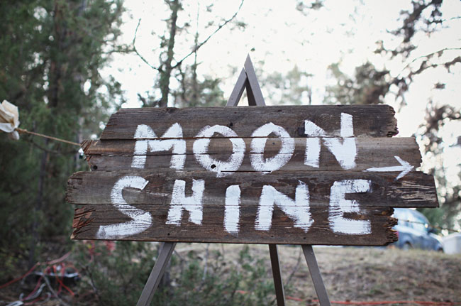 moonshine wooden sign