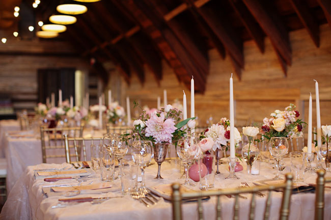 tall skinny candle reception