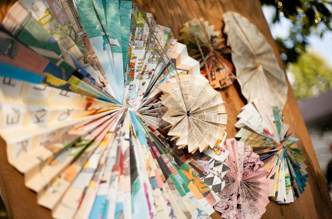pinwheel paper decor