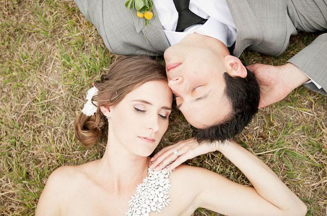 pinwheel wedding bride and groom