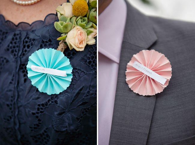 pinwheel wedding - Boutonnire Invit Mariage
